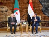 السيسى يستقبل عبد القادر بن صالح ويثمن العلاقات الأخوية مع الجزائر ويشيد بمنتخبها