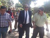 صور.. سكرتير عام الإسكندرية يتفقد أعمال تطوير الحدائق العامة قبل افتتاحها