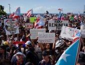 فيديو.. مظاهرات تطالب باستقالة حاكم بورتوريكو بسبب تصريحاته العنصرية