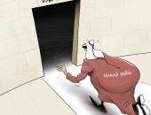 كاريكاتير الصحف الاماراتية ..  نظام الحمدين يتجه الى طريق اللاعودة
