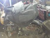 إصابة شخصين فى تصادم سيارة نقل وتوك توك بمركز أبنوب بأسيوط