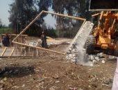 إزالة تعديات على أراضى زراعية وضبط مخالفات بناء بالشرقية والإسكندرية