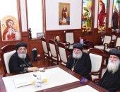 البابا تواضروس يستقبل أسقف جرجا ورئيس دير إخميم بالكاتدرائية