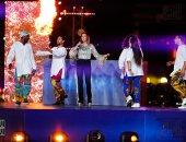 فيديو.. كواليس دنيا سمير غانم فى حفل ختام كأس أمم أفريقيا
