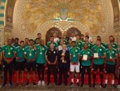 الرئيس الجزائرى يستقبل أبطال كأس أمم أفريقيا 2019 فى قصر الشعب
