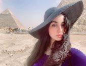 جيهان خليل فى جلسة تصوير بالأهرامات: المكان الأكثر سحرا وجمالا