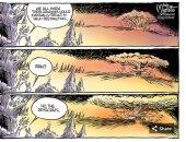 فى كاريكاتير يو إس أيه توداى.. الديمقراطيون وليس إيران من يحملون الأحقاد