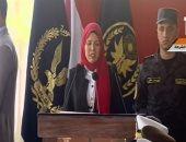 ابنة الشهد عاطف الإسلامبولى تبكى خلال كلمتها فى حفل تخرج كلية الشرطة