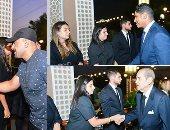 صور.. أبو هشيمة وأحمد السقا وفريد الديب يشاركون عزاء أرملة الراحل إبراهيم سعده
