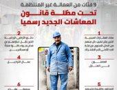إنفوجراف .. 9 فئات من العمالة غير المنتظمة تحت مظلة قانون المعاشات الجديد