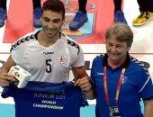 محسن رمضان أفضل لاعب فى مباراة مصر وصربيا فى مونديال شباب اليد فى إسبانيا