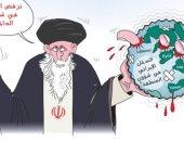 كاريكاتير الصحف السعودية .. النظام الإيرانى ينهش باصابعه فى المنطقة العربية