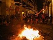 اشتباكات بين شرطة بورتوريكو ومطالبين باستقالة ريكاردو روسيلو