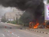 شاهد.. النيران تلتهم مبنى خلال احتجاجات الحركة الإسلامية فى نيجيريا