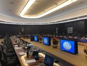 قاعة اجتماعات الحكومة الجديدة بالعلمين قبل بدء أول اجتماع