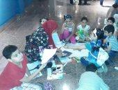 شاهد مشاركة الأطفال بورش الرسم فى متحف ملوى بالمنيا