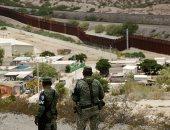 الحرس الوطنى المكسيكى يراقب الحدود مع أمريكا  لمنع المهاجرون من العبور
