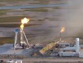 شاهد ..لحظة اندلاع حريق بمركبة Starhopper الفضائية الأمريكية
