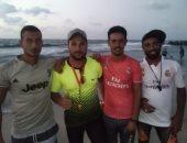 صور.. يوم فى حياة منقذى مصيف بلطيم.. يتواجدون 13 ساعة على الشاطئ