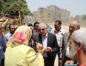 محافظ الجيزة يتفقد أعمال تحويلات مسارات المرافق بشارع ترعة عبد العال
