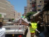 صور.. حملة إزالة مكبرة و إغلاق المحلات المخالفة غرب الأسكندرية