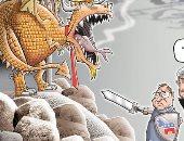 مولر فى حماية الديمقراطيين من ترامب التنين.. كاريكاتير USA Today