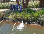 غسيل خطوط شبكات مياه الشرب بالعديسات والطود والندافين بالأقصر