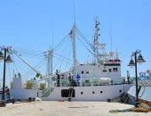 """صور.. """"معهد علوم البحار"""" يجرى أول رحلة بحرية للسفينية البحثية """"اليرموك"""""""