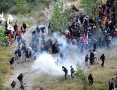 صور.. تظاهرات فى إيطاليا ضد إنشاء خط سكة حديد يربط بين تورينو وليون الفرنسية