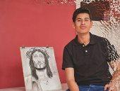 """كيرلس يشارك لوحاته عبر صحافة المواطن: """"أتمنى الوصول للمرحلة الاحترافية"""""""