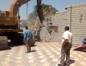 قوات أمن الجيزة تواصل تأمين حملات إزالة العقارات المخالفة بالمحافظة