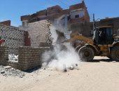 إزالة 51 حالة تعدٍ على مساحة 16 ألف متر مربع بمدينة أسوان.. صور