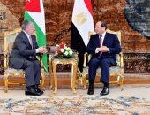 توافق بين السيسى وعاهل الأردن لتكثيف جهود استئناف مفاوضات عملية السلام