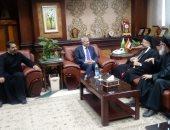 بطريرك الكاثوليك يلتقى محافظ المنيا خلال زيارته الرعوية للمحافظة