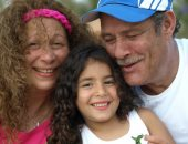 تفاصيل 25 صورة عائلية تجمع فاروق الفيشاوى وسمية الألفي بحفيدتهما لينا