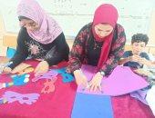 ورش رسم وتصنيع ماسكات لأطفال ثقافة بورسعيد.. صور