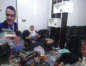 """صور.. """"الحرية المصرى"""" بدأ تنفيذ خطته فى توفير كسوة العيد للفقراء بالمنوفية"""