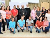 بطريرك الكاثوليك يعقد اجتماعا مع مسئولى التنمية والخدمة بكنائس المنيا