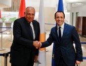 وزير الخارجية يبحث مع نظيره القبرصى سبل تعزيز التعاون السياسى فى قطاع الطاقة