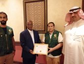 وزير العمل الجيبوتى يُكرم فريق مركز الملك سلمان للإغاثة