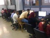 إقبال كبير على معامل التنسيق بجامعة طنطا فى أول أيام المرحلة الثانية للتنسيق