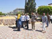 صور.. رئيس جامعة قناة السويس يتفقد أعمال التجديد داخل الحرم الجامعى