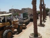 جهاز مدينة الشروق يشن حملة لإزالة الإشغالات وضبط المحال المخالفة بالمدينة