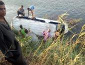 إصابة 10 أشخاص فى انقلاب سيارة أجرة بترعة الفاروقية سوهاج