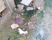 مياه الصرف الصحى تهدد المنازل بالانهيار فى منطقة تقسيم أباظة بالمريوطية