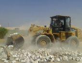 إزالة 55 حالة تعدى واسترداد 1000 متر مبانى و2175 فدان زراعة بقوصية أسيوط