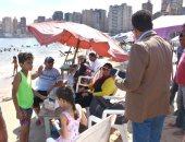 صور.. توقيع عقوبات مالية على مستأجر شاطئ رأس التين لعدم الالتزام بالأسعار