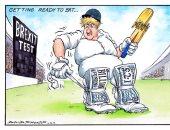 """اقتصاد يدفع الثمن.. كيف علق كاريكاتير """"التايمز"""" على خطة جونسون للخروج من أوروبا"""
