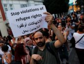 صور.. مظاهرات فى اسطنبول بسبب قرار ترحيل اللاجئين السوريين