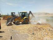 صور.. إزالة 18123 متر تعديات على أملاك الدولة بسوهاج